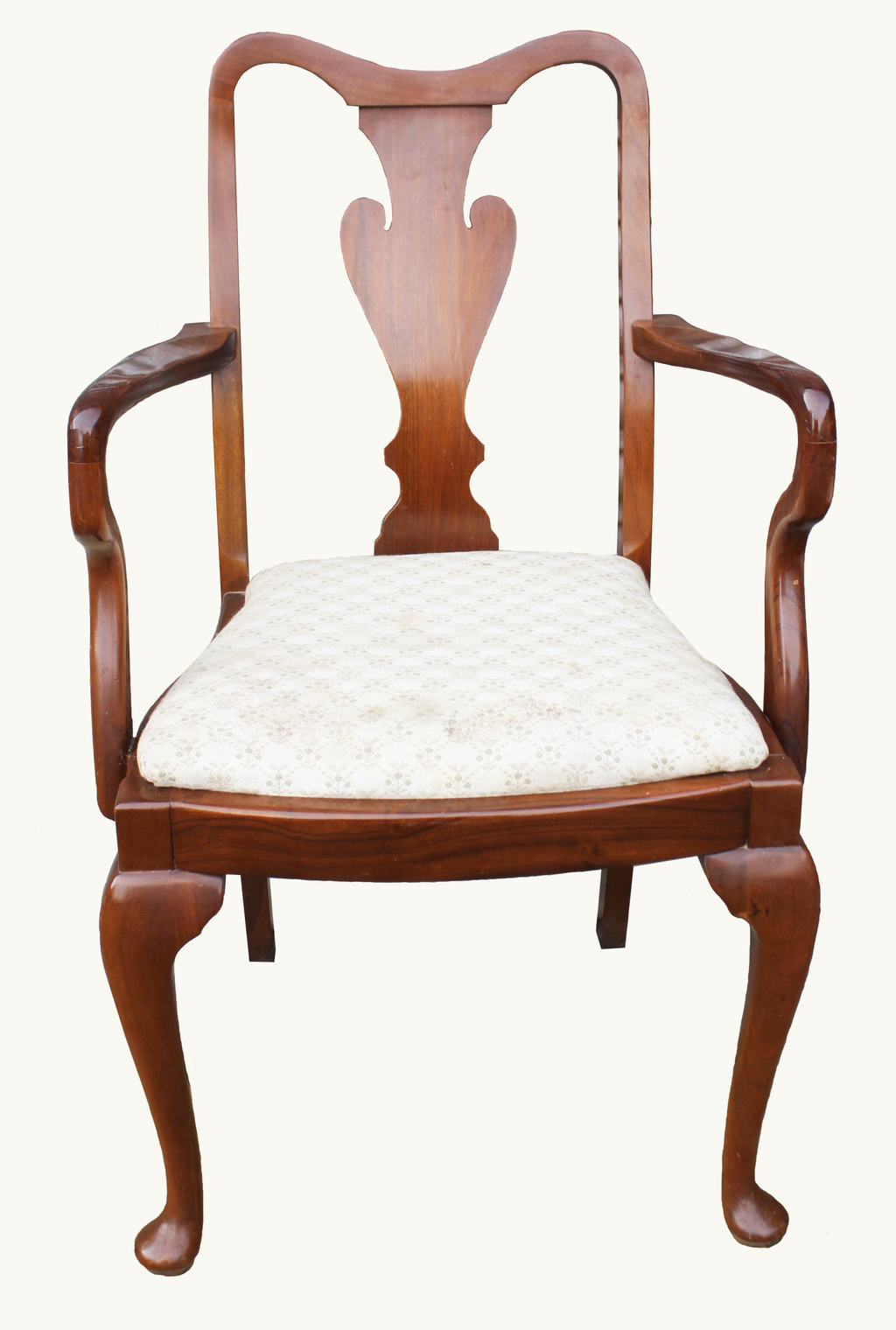 A set of walnut queen anne style dining chairs hogarths for Dining room chairs queen anne